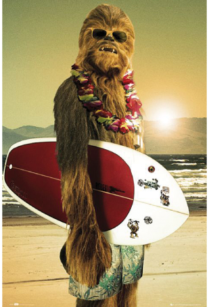 Star Wars Poster Chewbacca Surfin