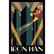 Iron Man Poster Art Deco