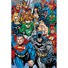 DC Comics Superheroes Poster Collage