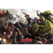 Avengers Age of Ultron Poster Battle