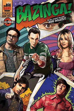 The Big Bang Theory - Bazinga! Comic Poster